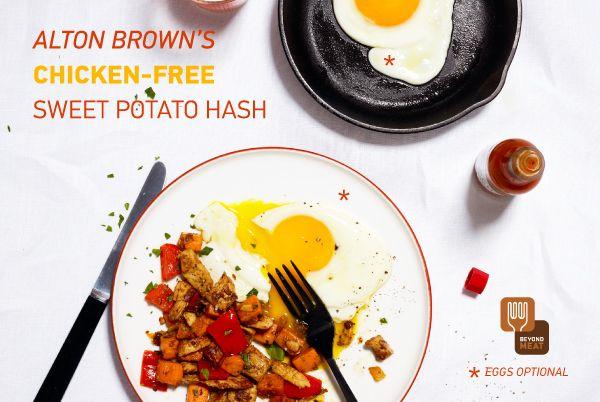Alton Brown's Chicken-Free Sweet Potato Hash   Sweet ...