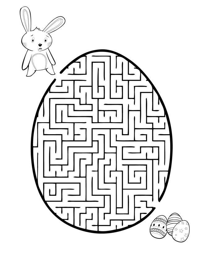 Easter Egg Maze Free Printable Coloring Pages Easter Easter