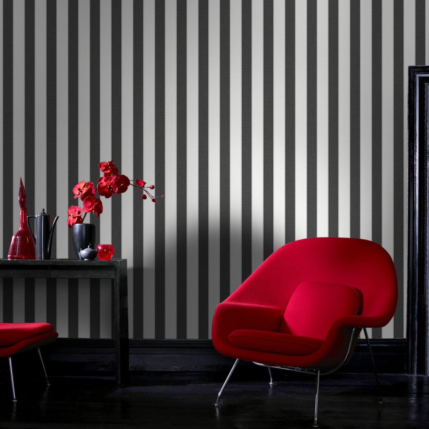 Graham & Brown 205 Fabric Ticking Stripe Wallpaper