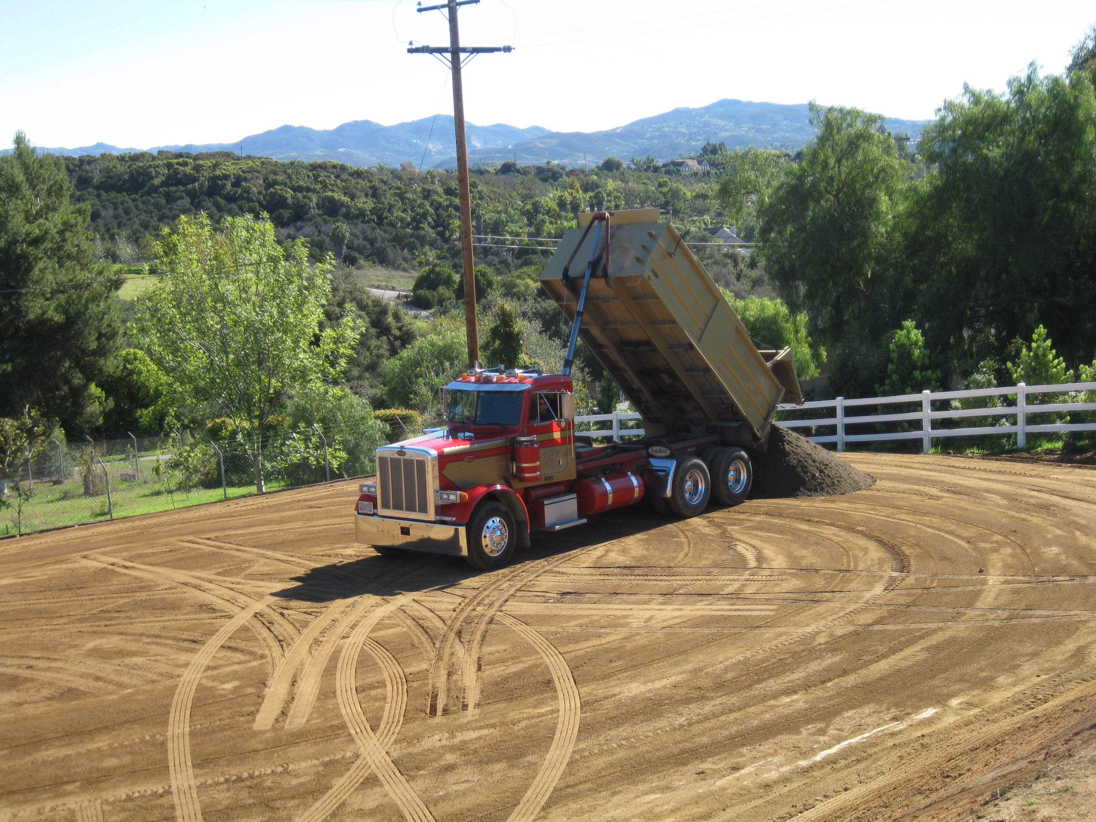 Special footing brought in by Superior Ready Mix for California Custom Arena