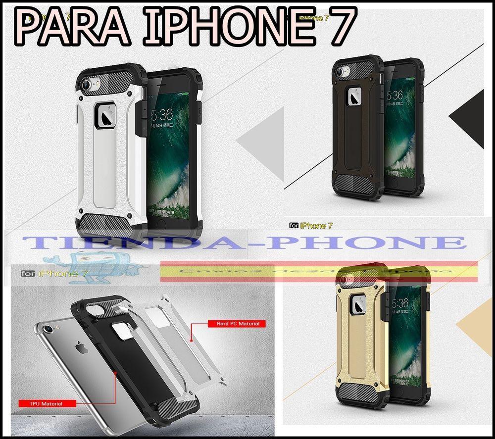 Prueba de Golpe PC Case Funda Cover Carcasa Dura  Ultrafina PARA  iPhone 7 Shock