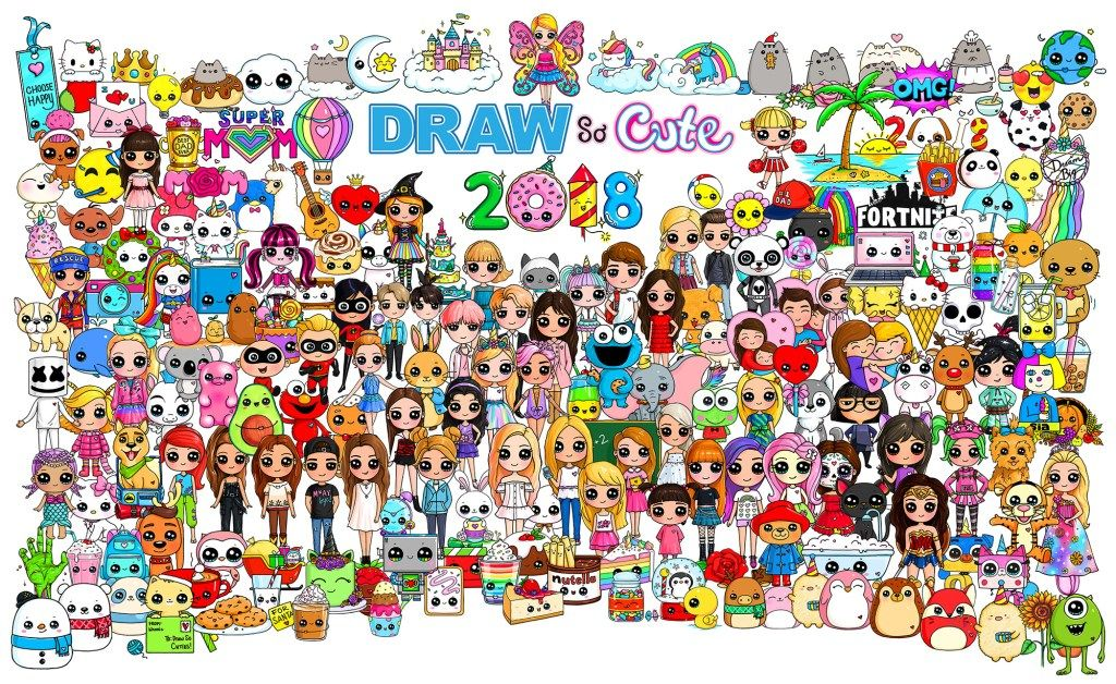 Draw So Cute Cute Drawing Videos Coloring Pages And Crafts For Kids Cute Drawings Poster Drawing Cute Poster
