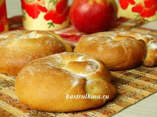 Испанские булочки-улитки Ensaimadas с яблоком на дрожжевом ...