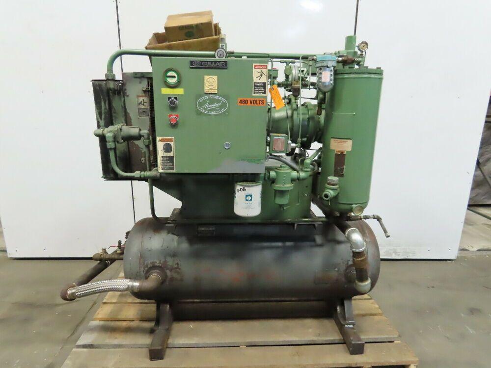 Ebay Sponsored Sullair 10b 40 40hp Rotary Screw Air Compressor 230 460v 3ph 120 Gallon Air Compressor Rotary Ebay