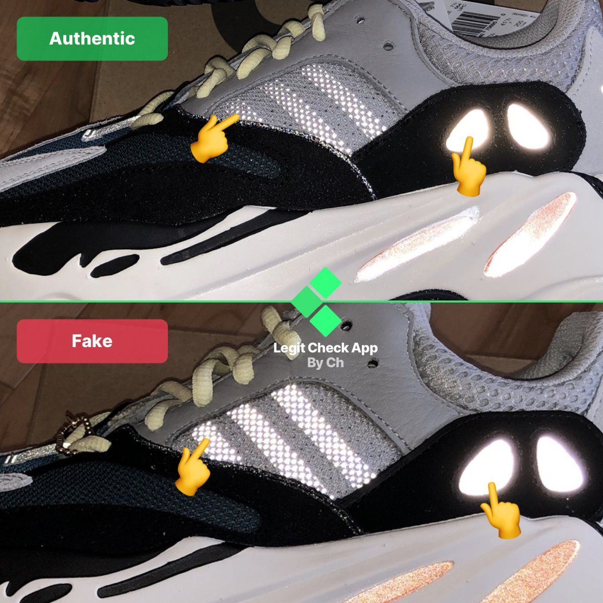 Pin on Yeezy Boost 700 V1 Fake Vs Real Guide