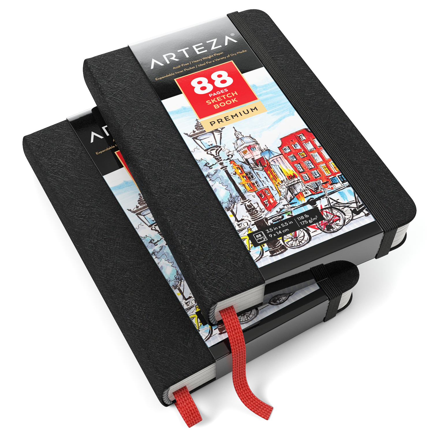 Mini Sketchbook, 3.5″ x 5.5″, 88 Pages – Pack of 2