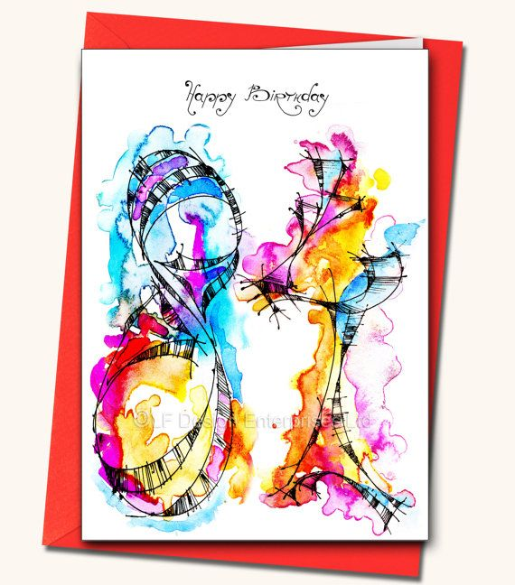 84th Birthday LARGE Greeting Card Personalised By LubaFenwickGifts