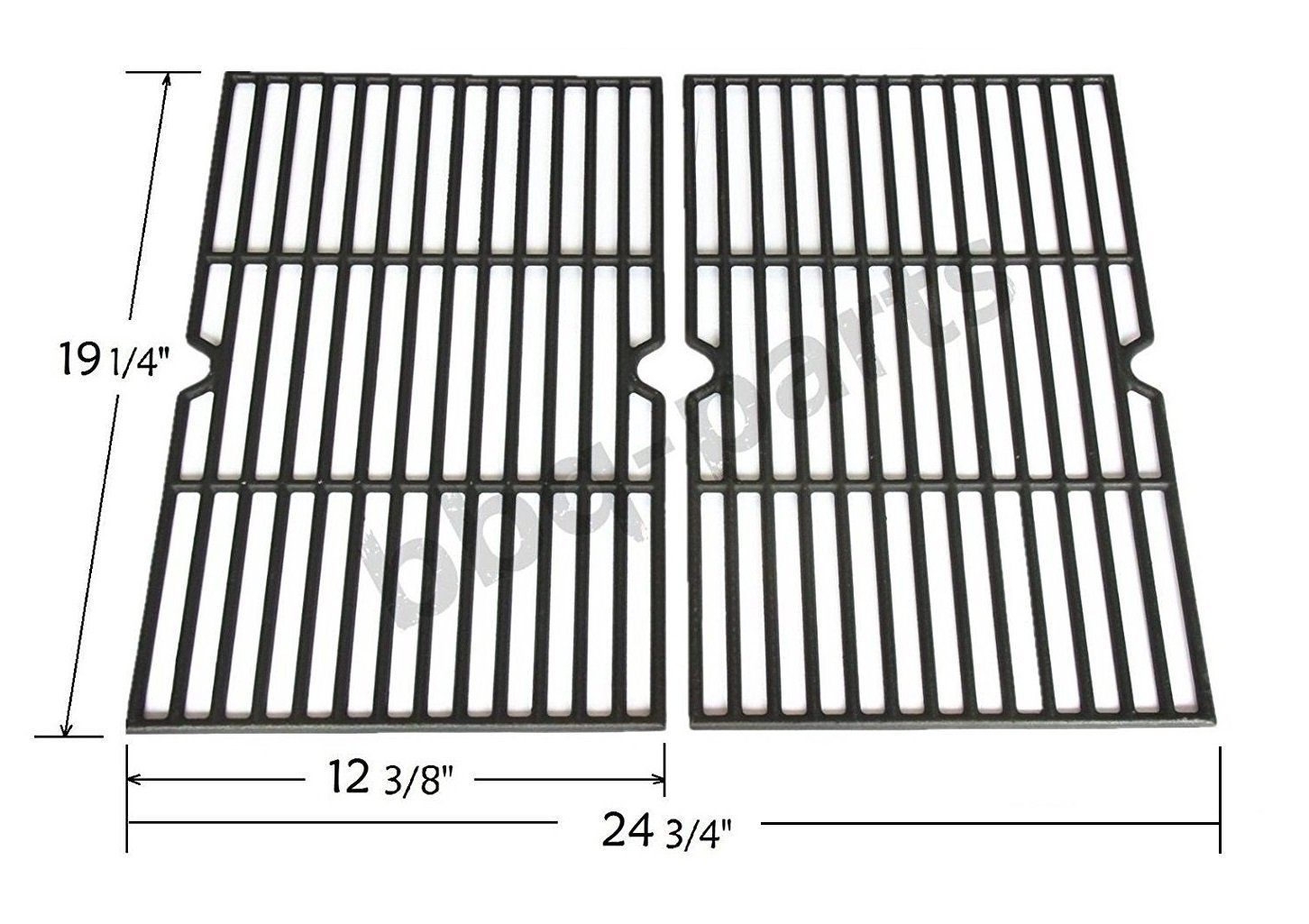 Pcb152 Universal Gas Grill Grate Cast Iron Cooking Grid Replacement Sold As A Set Of 2 Cast Iron Cooking Gas Grill Grill Grates