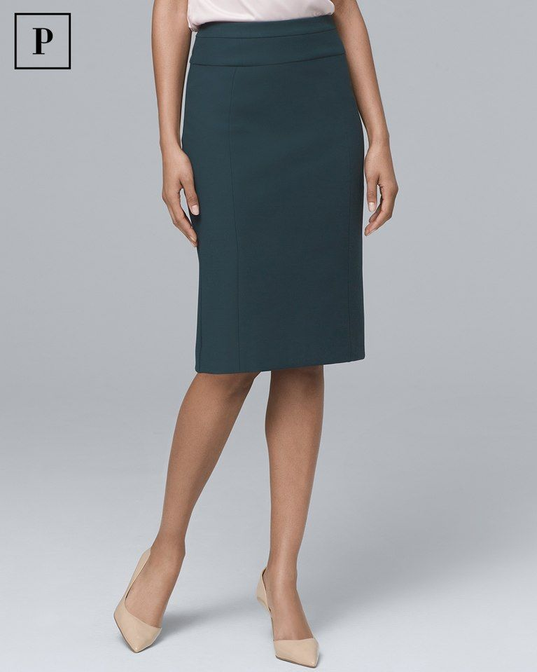 E4 Elegant Appearance Steady White House Black Market Sz 4 Black White Polka Dot Pencil Skirt Career Wear Skirts