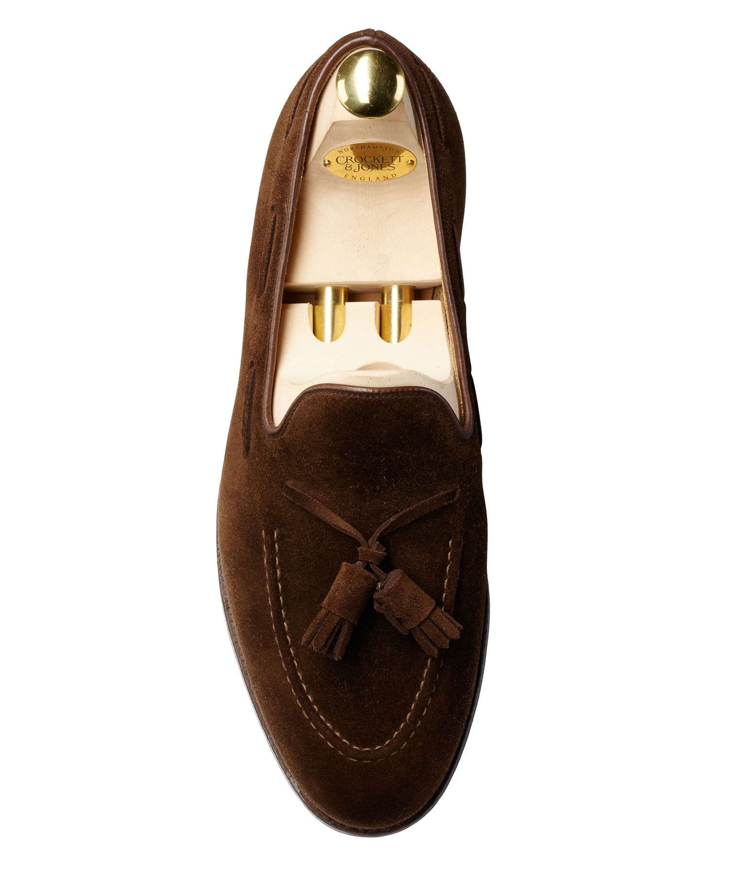 be4f68911af Made in England this classic tassel loafer is made from the finest suede  and single leather soles. - Goodyear welt - Stacked heel - Sole single  leather ...