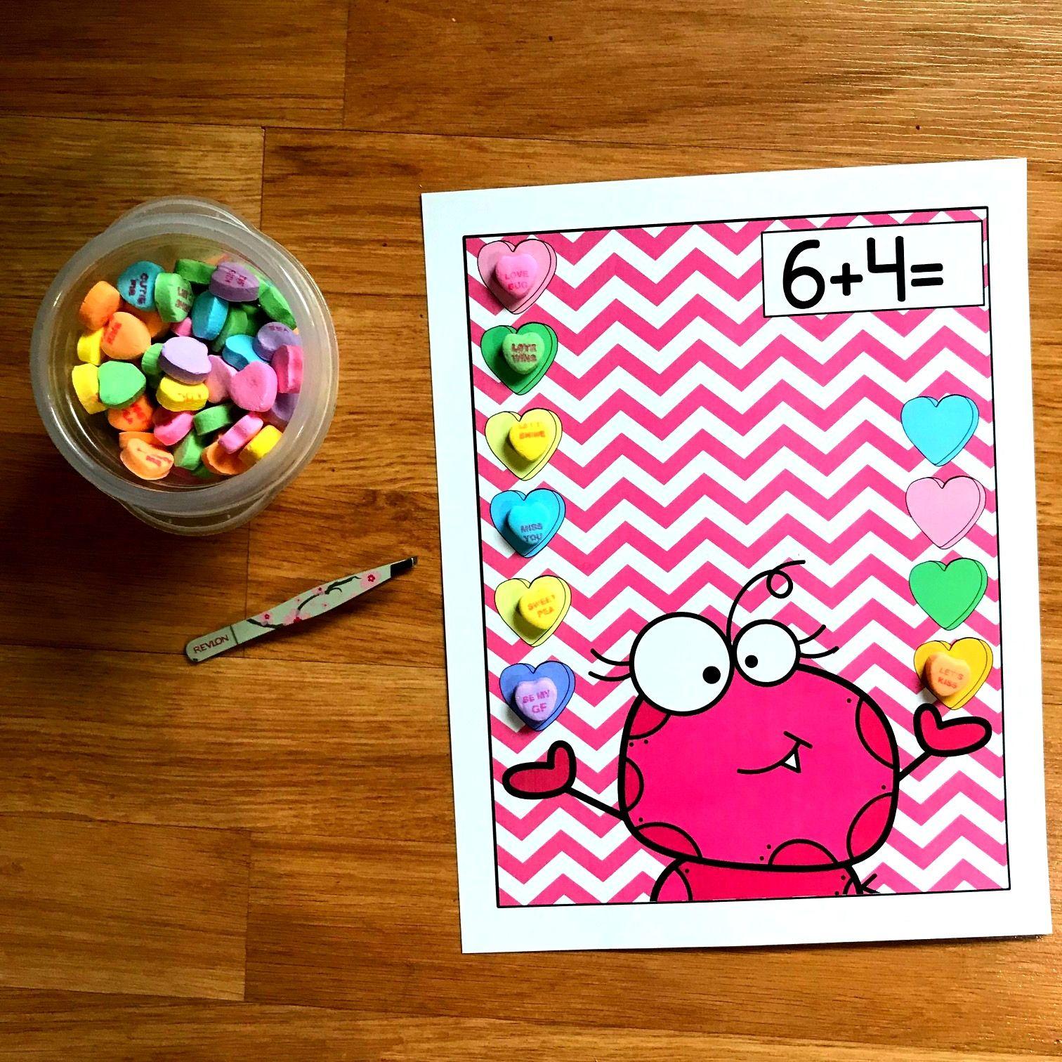 Valentine S Day Candy Heart Math