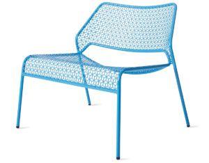Merveilleux Blue Mesh Lounge Chairs