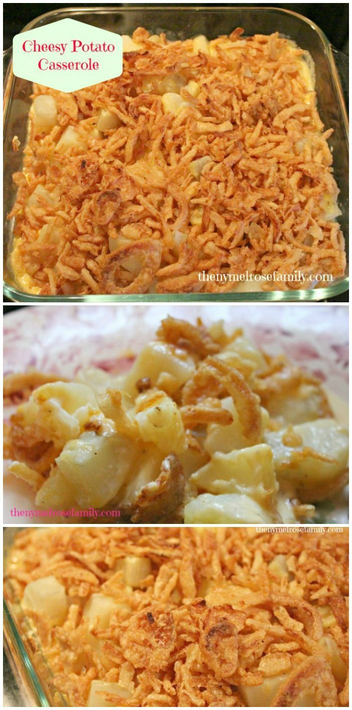 Cheesy Potato Casserole with French's Fried Onions #howtofryonions