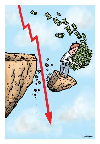Falling Down With Money Medium Business Cartoons Falling Down Travel Blogger