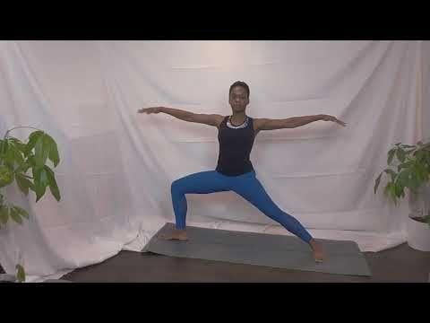 5 minute easy sun salutation  tall bean  yoga for
