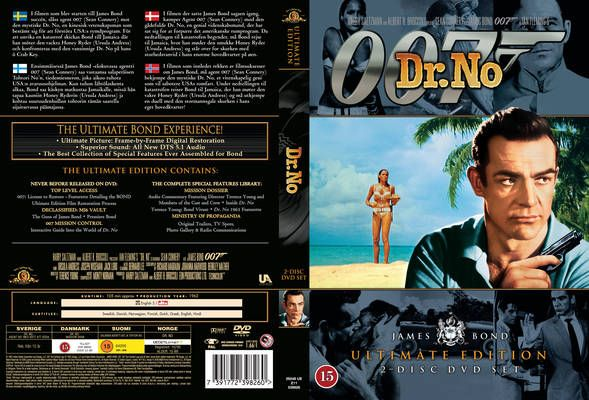 James Bond Dr No 1962 UE Danish DVD Front Cover | covers | Pinterest