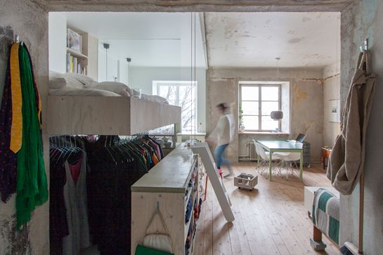 A Swedish Small Space Remodel - Storage Unit Apartment