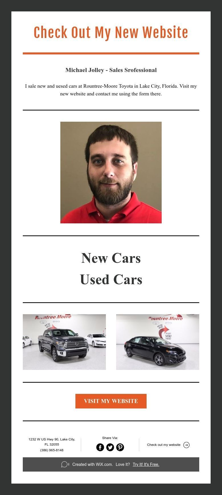 Check Out My New Website Website New Cars Car Salesman