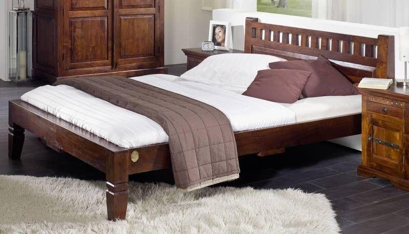 Bett Akazie 180x200x90 nougat lackiert OXFORD #230 Jetzt bestellen - schlafzimmer kiefer massiv