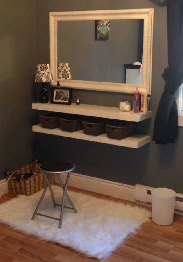 Wall mounted vanity Room Ideas Pinterest Wall mount, Vanities