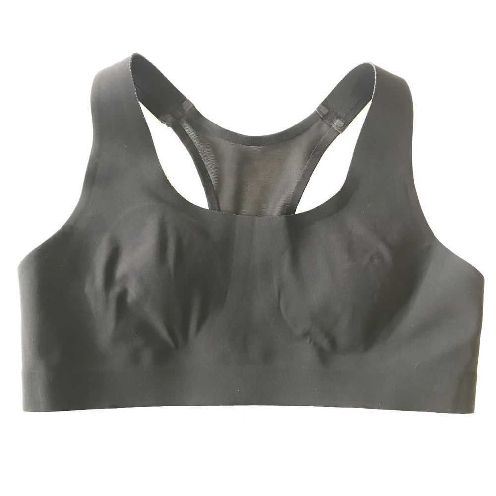 Lululemon Athletica Womens Solid Black Clasp Sports Bra
