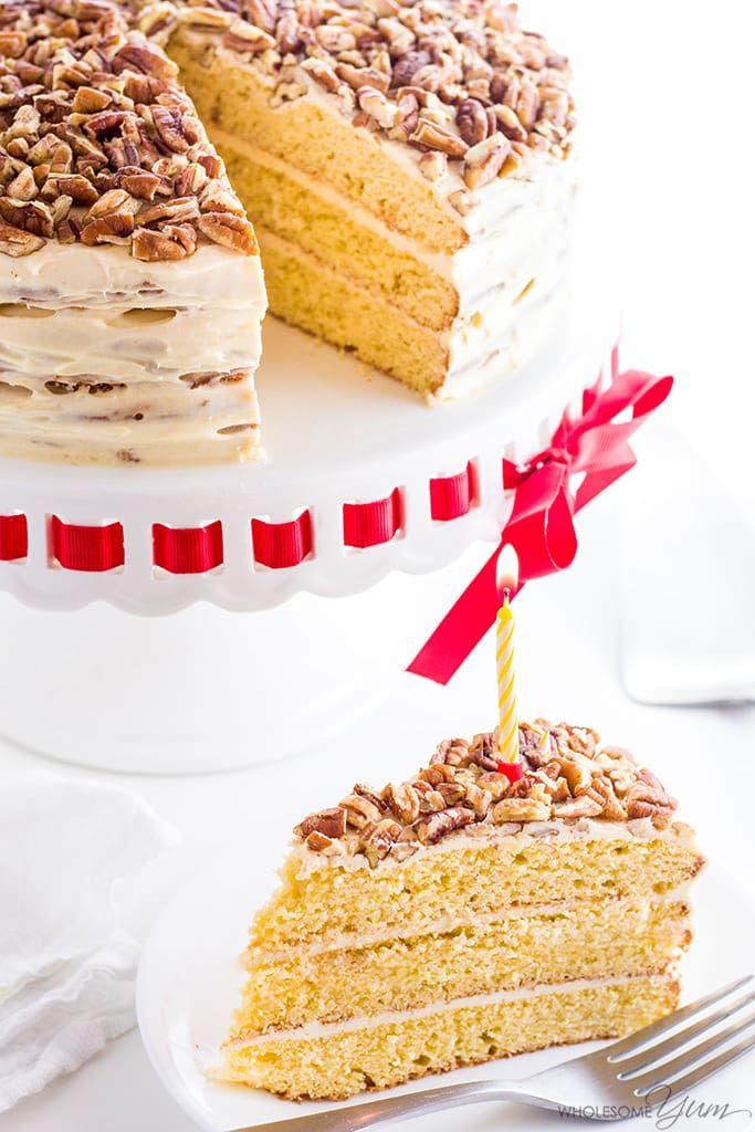Gluten Free Birthday Cake Sugar Free Low Carb Keto Dieta