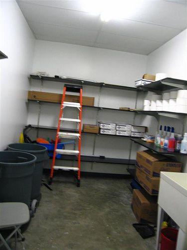 janitor closet organization
