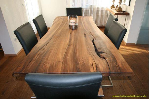 Tisch Light Massivholztisch Nussbaum Nussbaum Tisch Esstisch Holz Massiv Naturholz Tisch