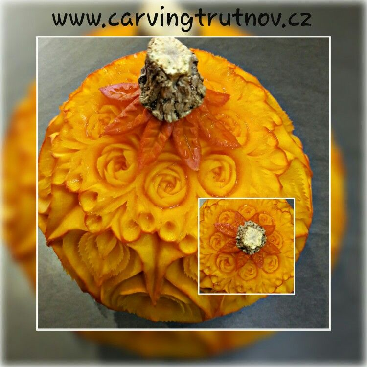 Carving fruit pumpkin birthday gift thai