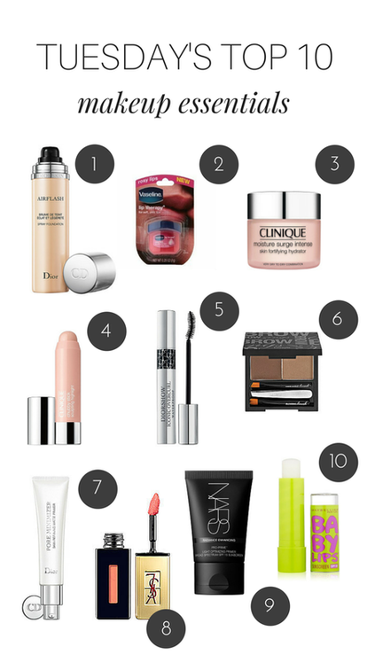 Tuesday S Top 10 Makeup Essentials Makeup Essentials Makeup Beauty