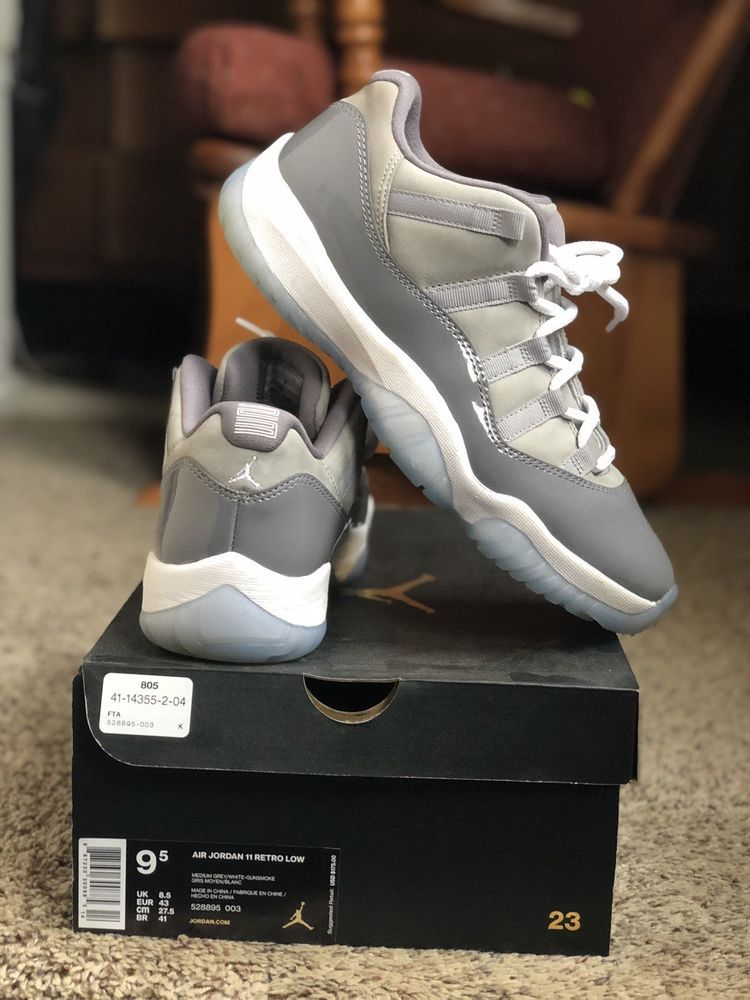 a89148200e10f2 ... Athletic Shoes by Georgina Thaxton. Mens Nike Air Jordan Retro XI 11  Low COOL GREY White Size 9.5 New  fashion