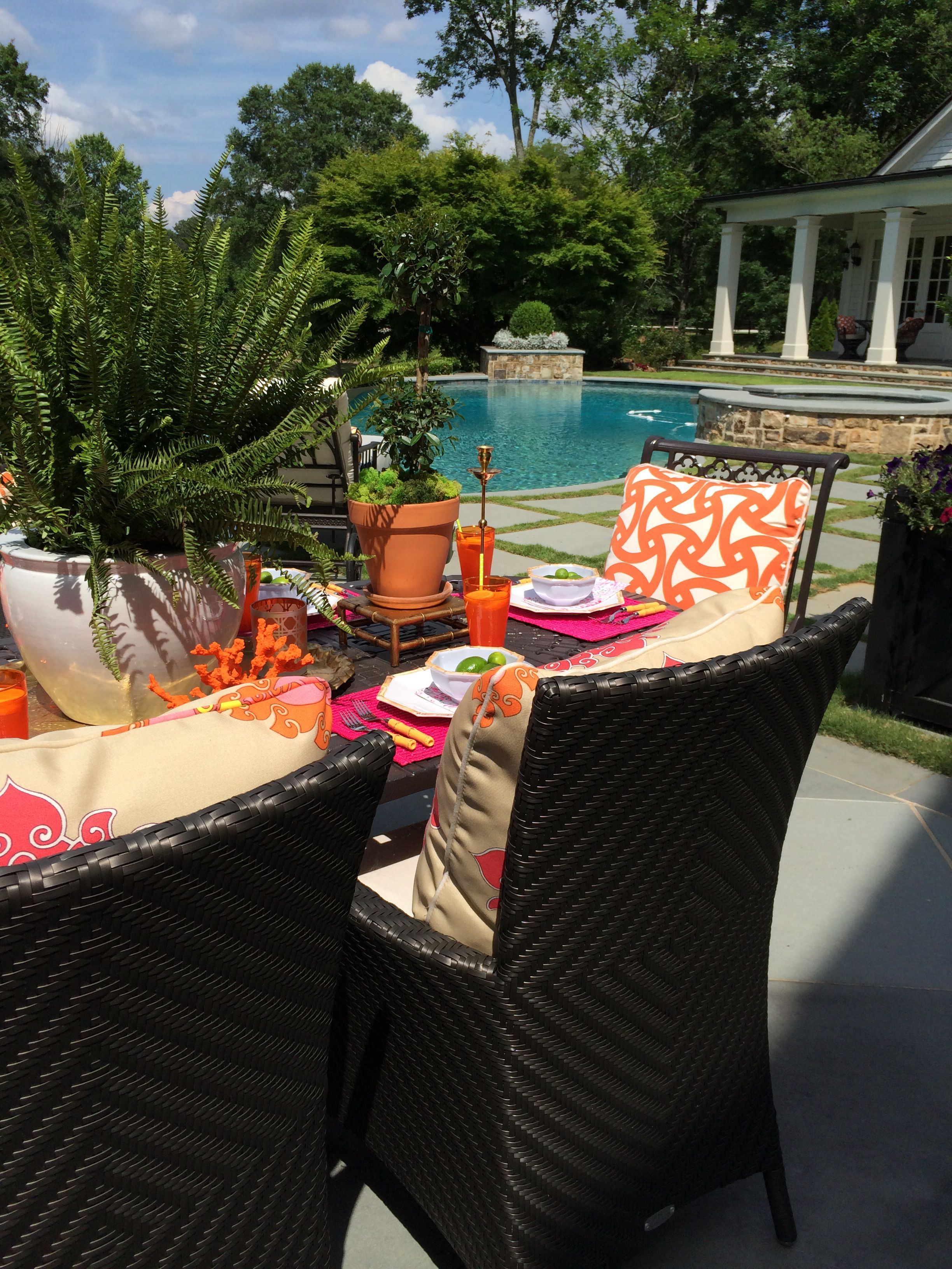 Summer entertaining by Parker Kennedy Living alfresco style