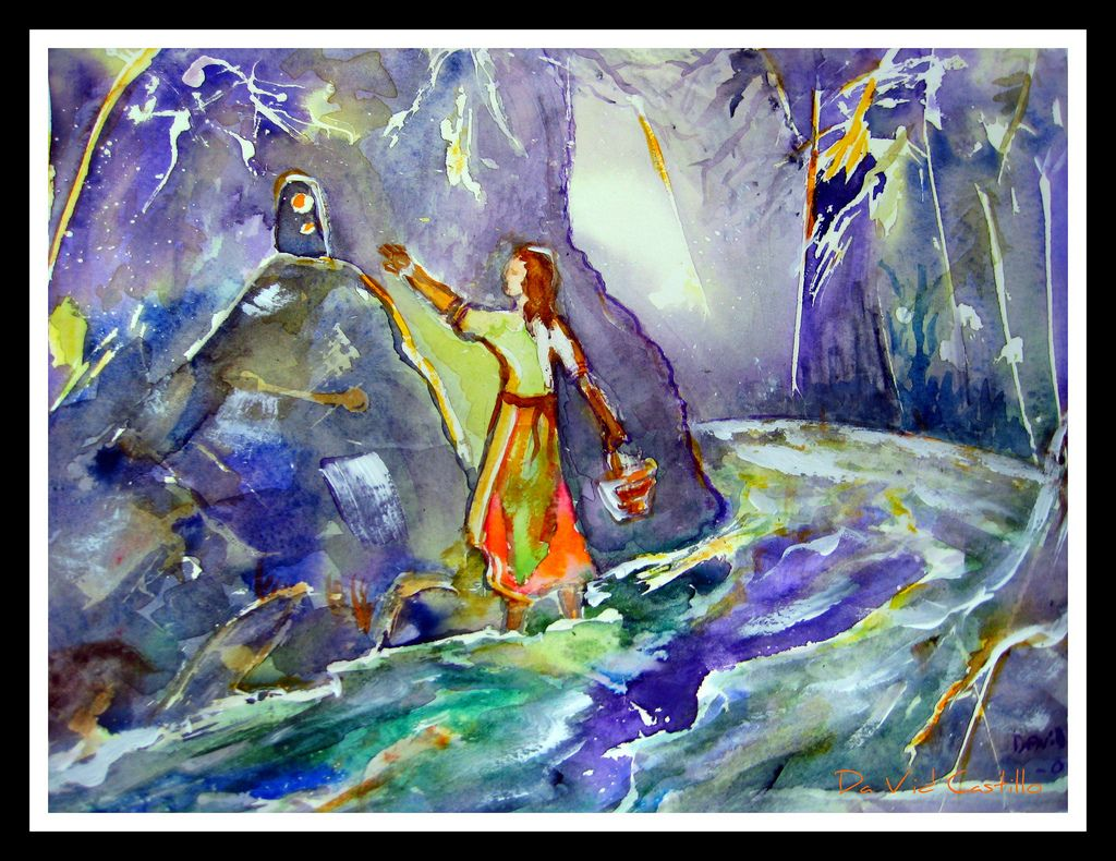 https://flic.kr/p/6K3ojX | Aparición de la Virgen de los Ángeles | Acuarela watercolor