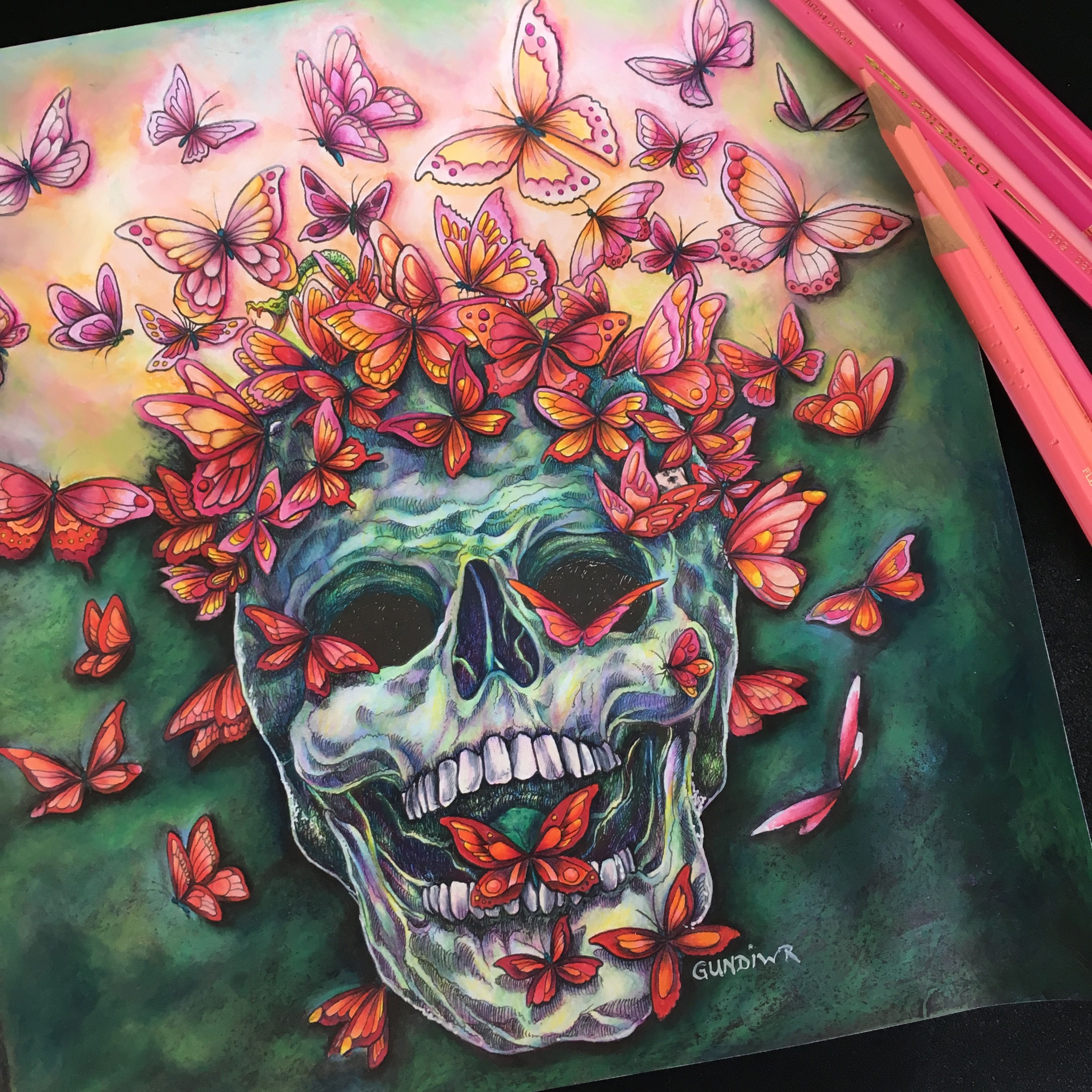 the butterfly skull fantomorphia kerby rosanes colored