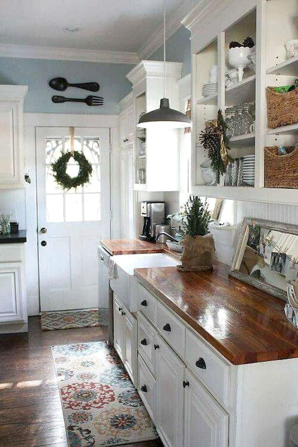 ✔67 Amazing Farmhouse Kitchen Cabinet Design Ideas #AmazingFarmhouseKitchenCabinetDesignIdeas