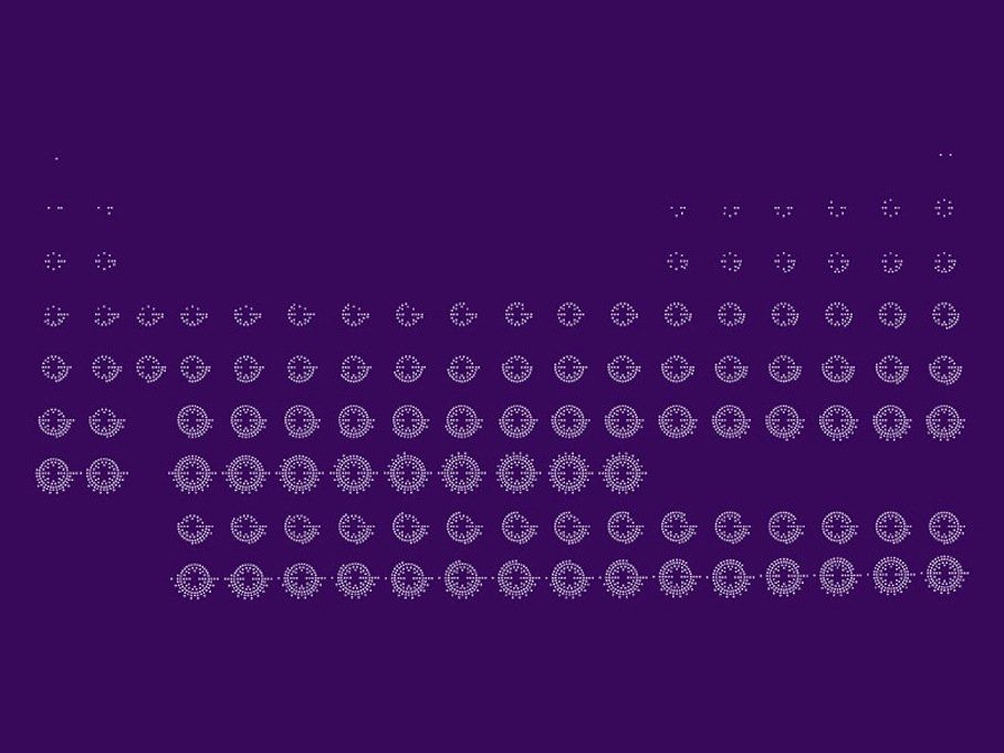 Periodic Table which letter represents the noble gases on the periodic table : A simple, beautiful periodic table. The dots each represent ...