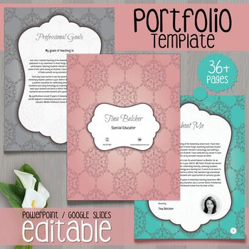 Teacher Portfolio  Editable Template