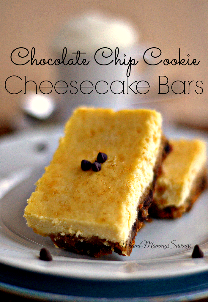 Looking for a quick and delicious recipe? Try these Chocolate Chip Cookie Cheesecake Bars. #FallFamilyMeals #ad