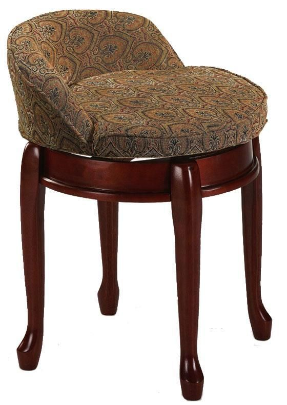 Home Decorators Collection Delmar Tapestry Low Back Swivel Vanity Stool