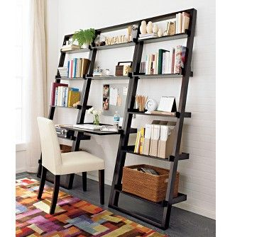 Crate And Barrel Bookshelf Desk Combo Is Mostly Designed For A Bookophile Who Occasionally Must Tackle The Bills Space Saving Furniture Home Office Space Home
