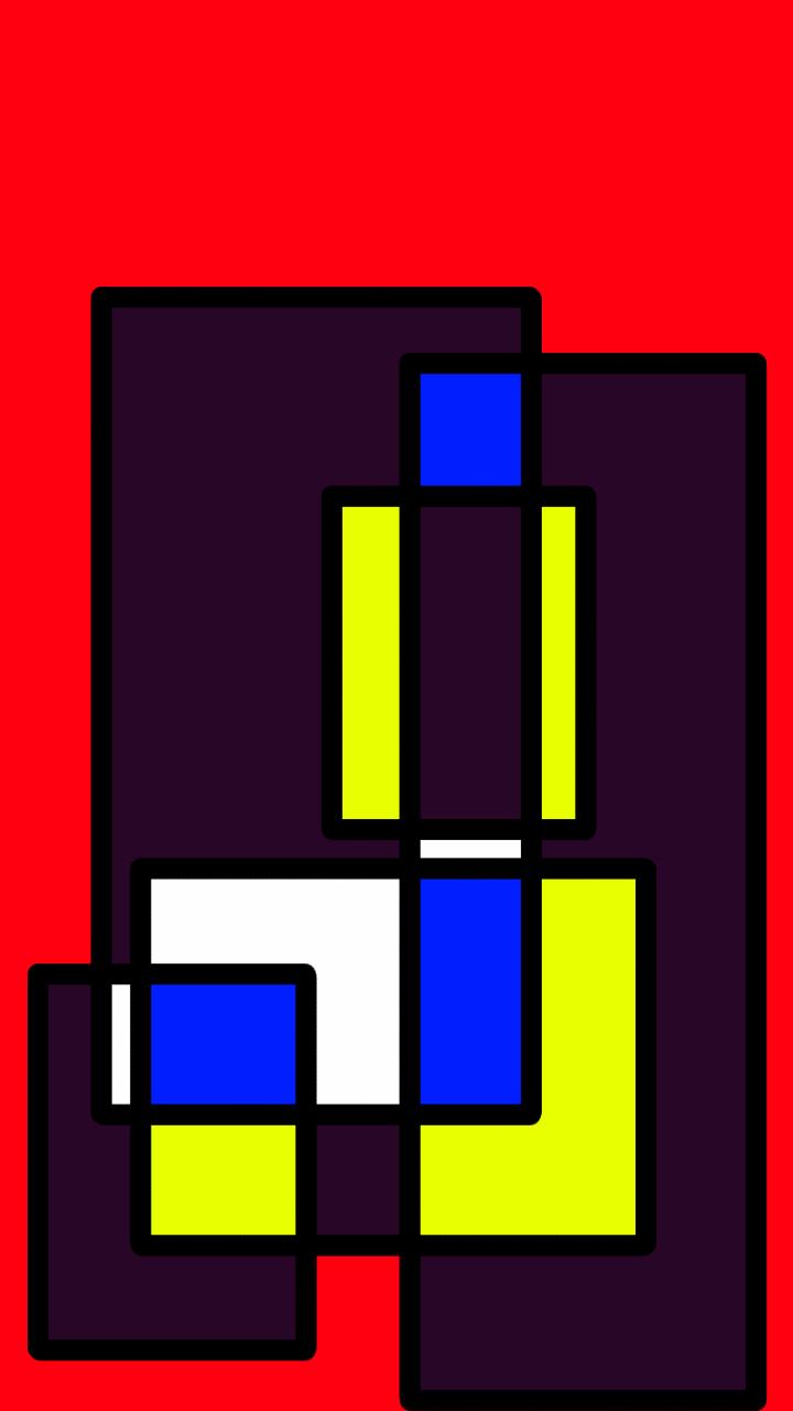 Compositie op rood 2 van GiuseppeDelPort uit 2015.
