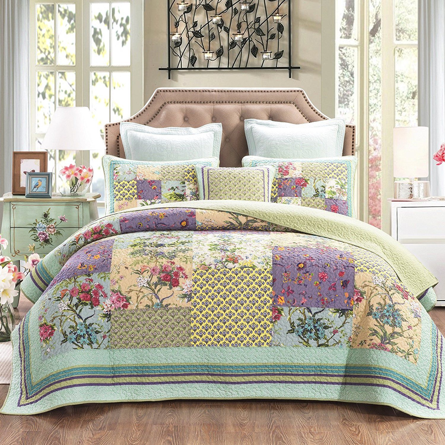 Patchwork Quilt Bedding Sets.Pin On Quilting