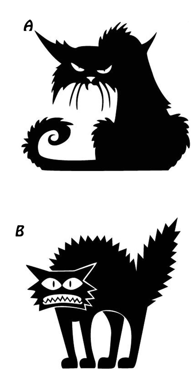 1 2 Pcs Set Cute Removable 3d Cats Sticker Black Cats Wall