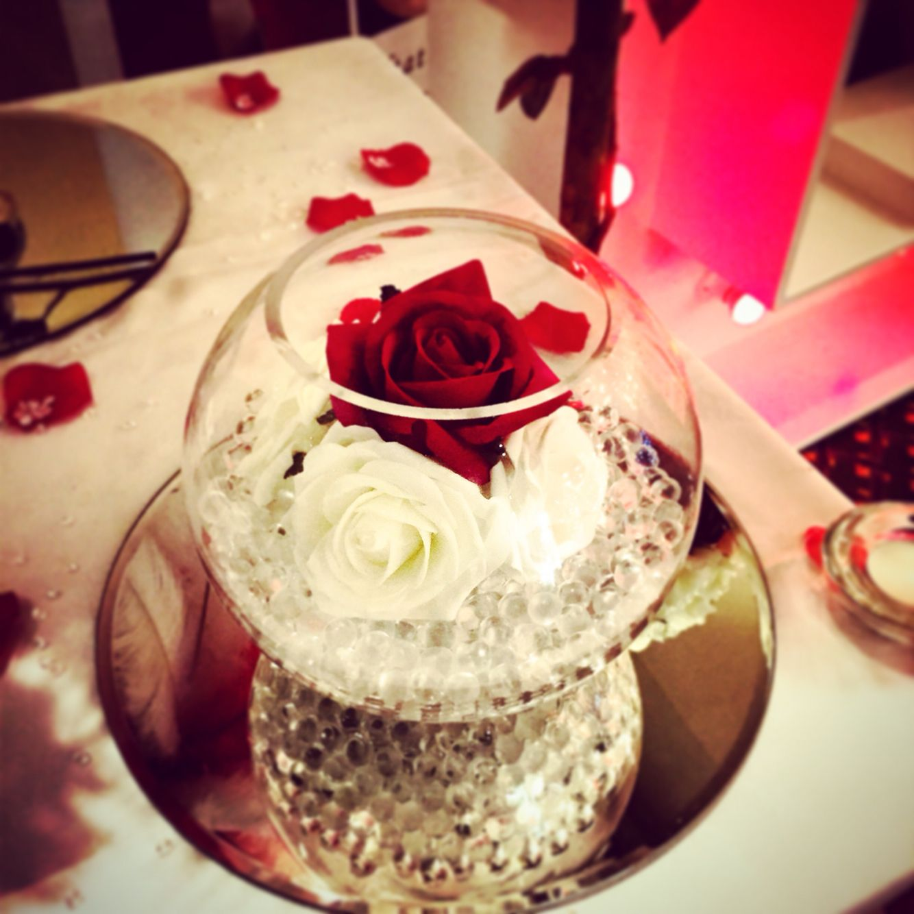 Fish Bowl And Roses …
