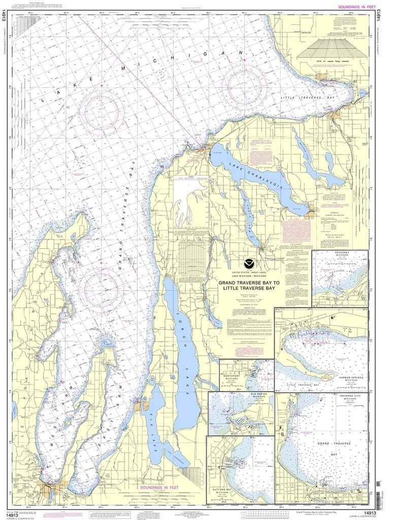 NOAA Chart 14913 Grand Traverse Bay to Little Traverse Bay