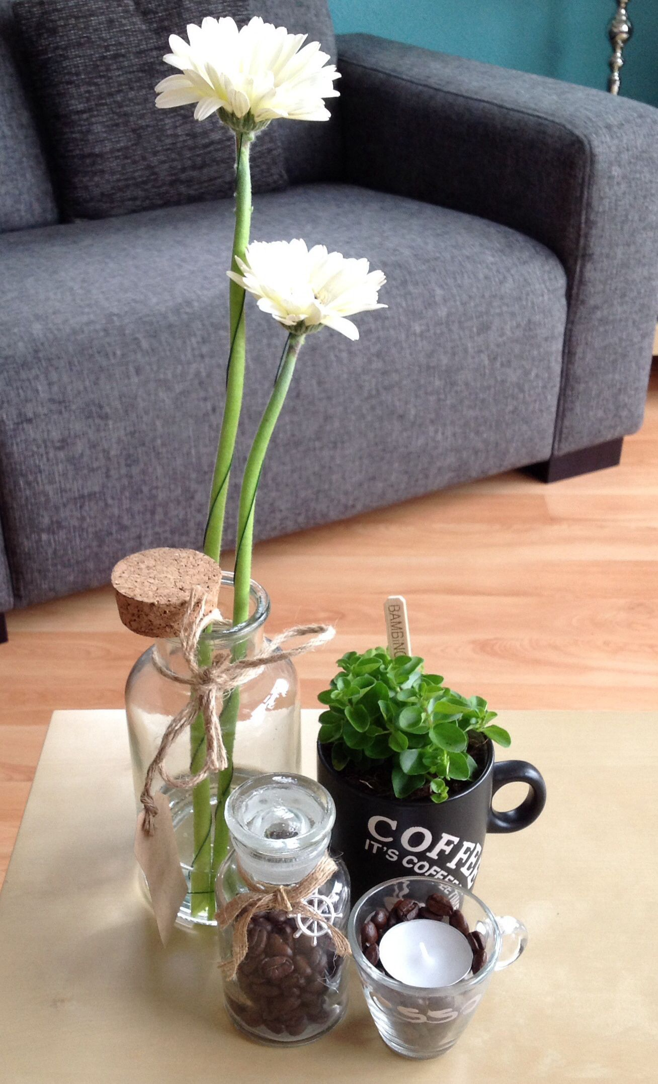 Coffee table decoration coffee theme