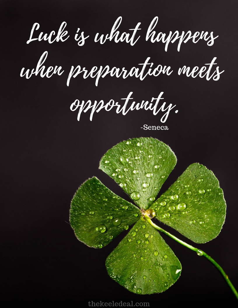 Diy Good Luck 4 Leaf Clover Card Good Luck Quotes Luck Quotes Opportunity Quotes
