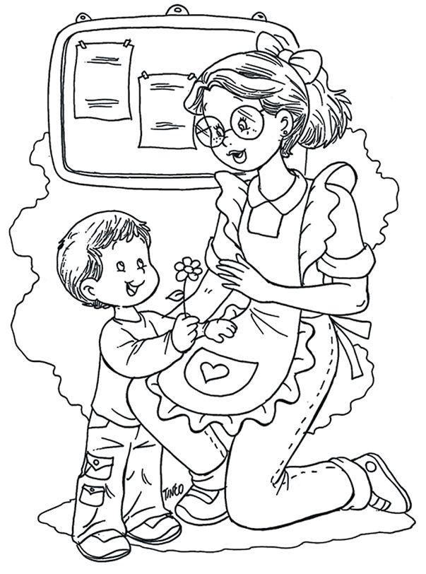 dibujos de maestras de inicial - Buscar con Google | manualidades ...