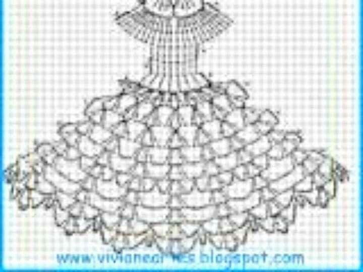 Vestido | Pontos | Pinterest | Vestiditos, Muñecas y Tejido