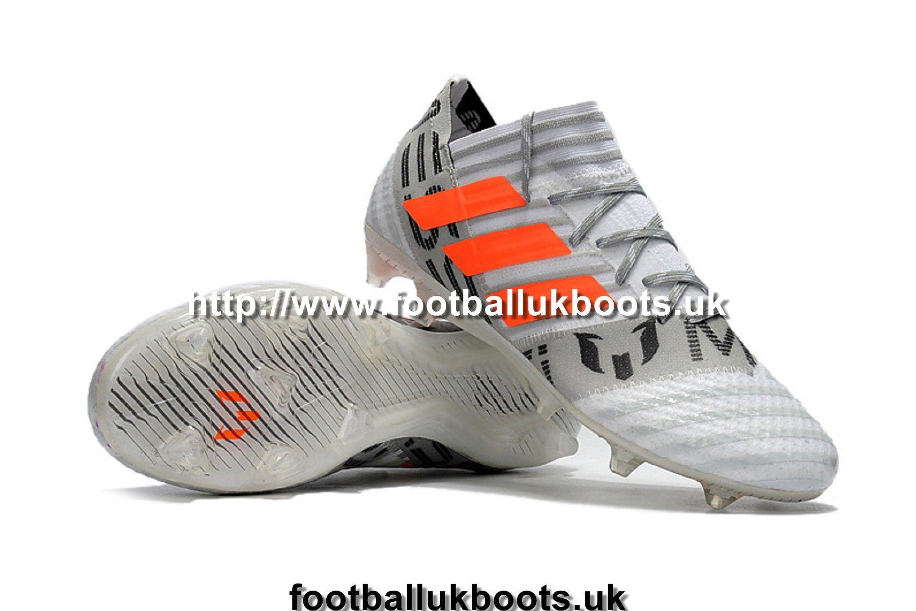 online store f5fee 55347 Adidas Nemeziz 17.1 FG Football boots - White Grey Orange Web